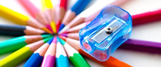 potloden met slijper